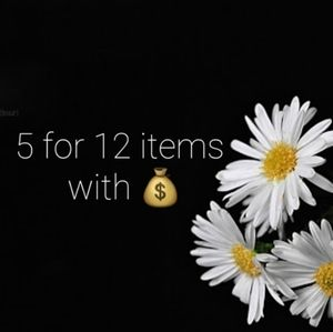 5 for 12 on items with 💰